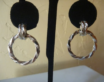 "VINTAGE 1960's ""CORO"" Silver Pierced EARRINGS"