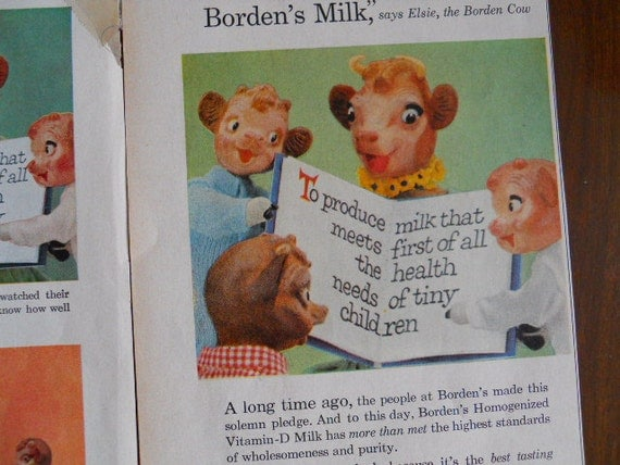 Borden's  Elsie The Cow  Ads - 1950's