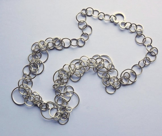 50% OFF Handmade Multiple Square Link Sterling Silver Chain