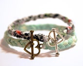 Braided Fabric Bracelet with Heart Toggle