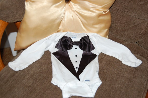 ALREADY MADE 3M New and Improved Quality Boys Tuxedo Carters Onesie Shirt Thanksgiving New Years Baptism Wedding Events Birthday Holidays