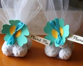 Turquoise wedding favor, seed bomb wedding favor, plantable and eco friendly favours, personalized wedding favors