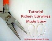Ear Wire Tutorial, Make Your Own Ear Wares. Kidney Ear Wires Made Easy, Beading Tutorial