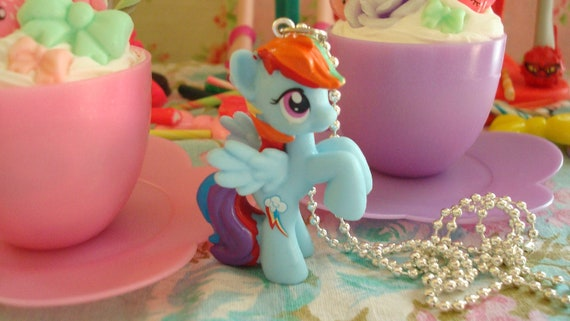 My Little Pony Rainbow Dash Assembled Kawaii Necklace or cell phone charm you choose