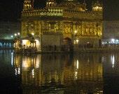 The Golden Temple At Night Amritsar Punjab India 8X10 Photograph