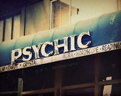 """Supernatural Photo. San Francisco Photo. """"Trip to the Psychic"""". 8.5x11inch Photo. Vintage. Navy. Blue. Silver. crystal. tarot. palm reader."""