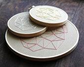 Geometrics Set of 3 Hand Embroideries