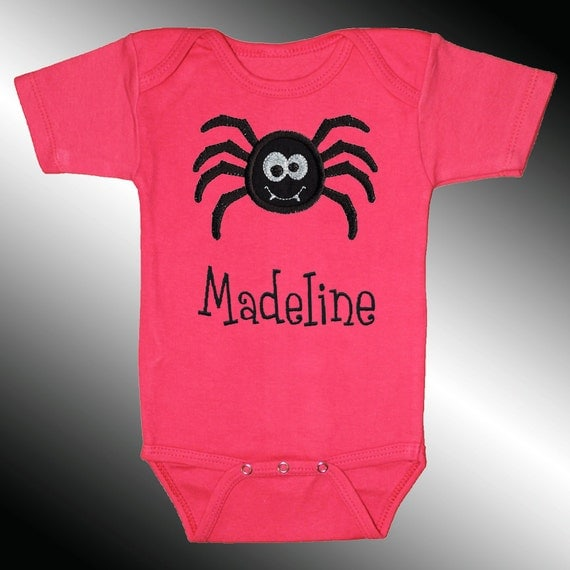 Bodysuit baby clothes personalized embroidered applique black