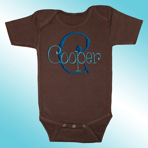 Bodysuit baby clothes personalized embroidered monogrammed name on