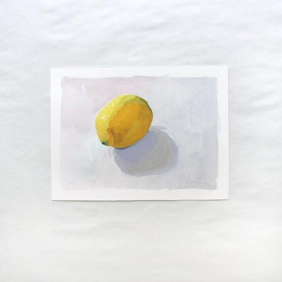 lemon art - original painting - Lemon 1