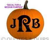 VINYL- Initials for pumpkins/ halloween MEDIUM size (custom monograms) Pumpkin NOT included
