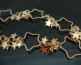 A-24.20cm, Big Star, Gold plated Chain - 7164H