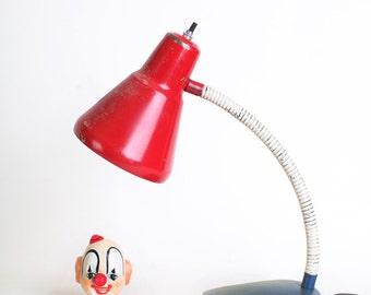 Red, White and Blue Gooseneck Desk Lamp