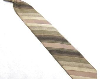 Brown Tan Necktie Clipon Tie Damon