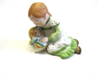 1980 Holly Hobbie Figurine Girl Statue Tenderness Original Tag