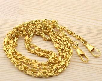 120cm Golden Chain Links purse links bag chain purse chain WLg-120