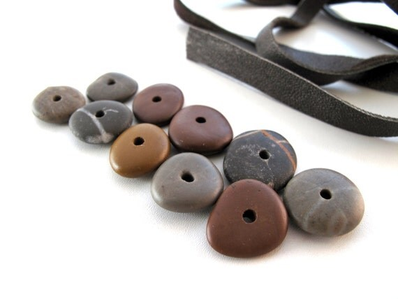 Tiny Round Donut Beach Stones -  CUTIES by StoneAlone -  Natural Stone Supplies, River Rock Cairn Stacks