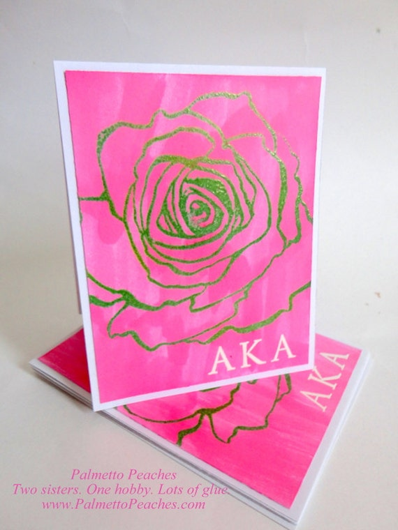 stationery monogram sorority alpha kappa alpha