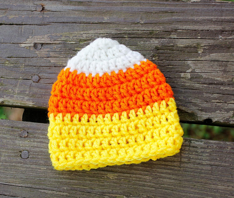 SAMPLE SALE: Newborn Crochet Candy Corn Hat