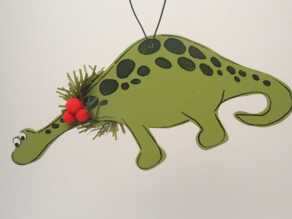 Wooden Dinosaur Ornament