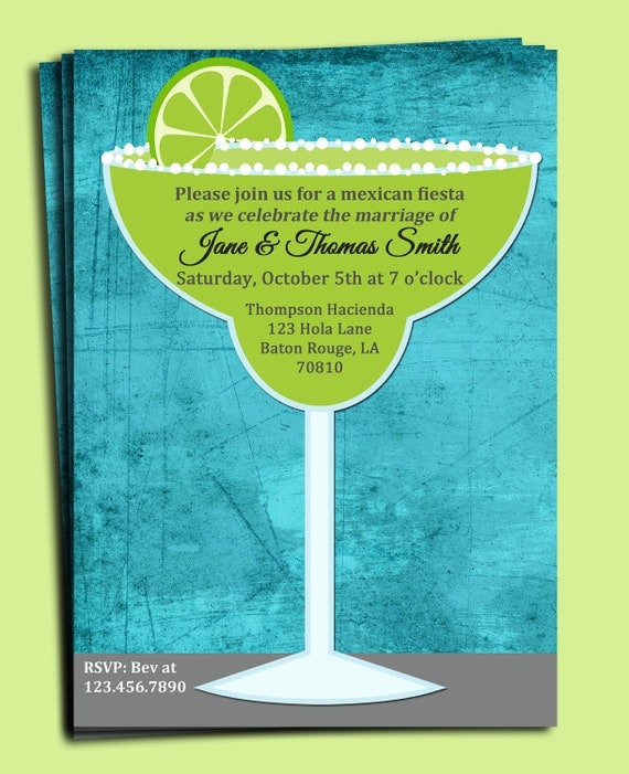 Margarita Invitation Printable - Birthday, Rehearsal Dinner, Wedding, Just Because by That Party ...