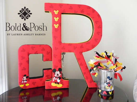 Mickey Mouse Fabric Wall Letter