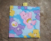 Try Me Sale - Care Bears Reusable Sandwich Bag, Reusable Snack Bag, Washable Treat Bag with Easy Open Tabs