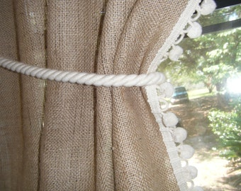 Curtain rope tieback, cotton, 32' long