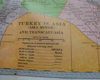 Map 1911 original  Turkey in Asia