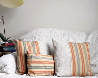 Special Offer. Toffee and Brandy Vintage Silk Pillow Covers Trio. One Free. Fit 18x18 (46x46cm) and 12x22''.