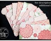 LAMINATED Cash Envelope System in Pink and Green (10 envelopes)