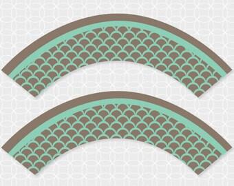 Party Printable DIY EID Mubarak Cupcake Wrappers - Instant Download