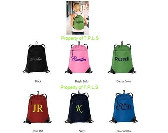 Very Nice Custom Personalized Embroidered Monogrammed Cinch Sack Backpack Cheer Dance Gym Tote Bag Gymnastics School Bridesmaid Gift