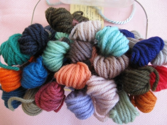 DMC Tapestry Yarn, 22 skeins all wool, 8.7 yards each skein, imported from France.