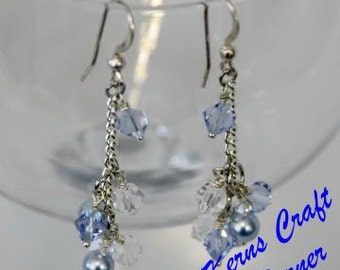 50 % off! Blue Sparkle Earrings
