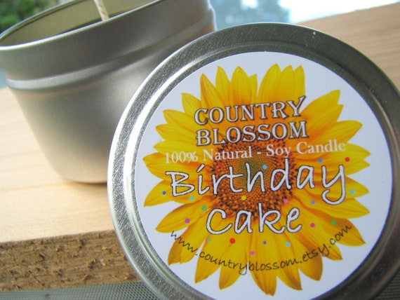 Birthday Cake 4 oz Tin Soy Wax Candle