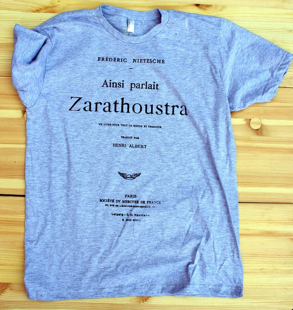 Nietzsche - Book Tee - MEN - Grey - Large