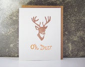 Oh Deer - Letterpress Greeting Card