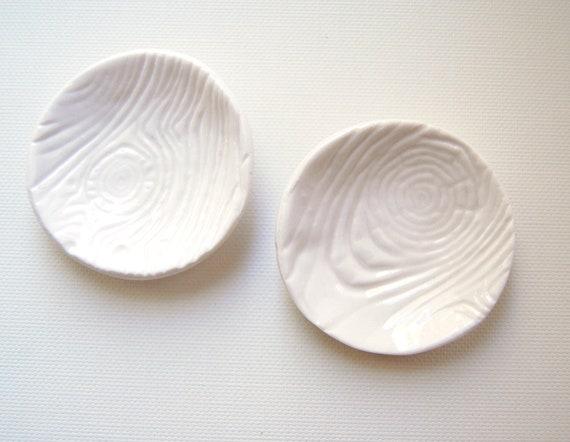 bark Porcelain Ceramic Dishes or Salt Cellars
