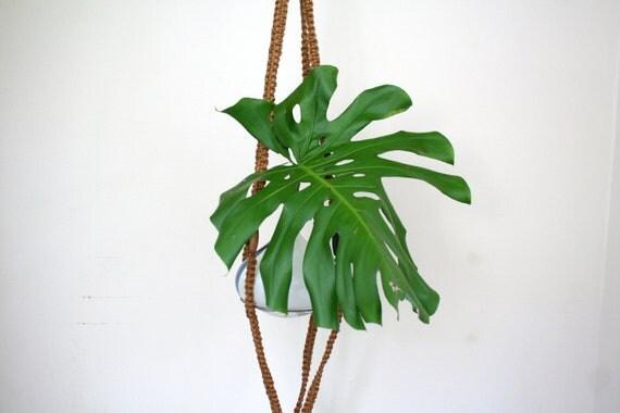 vintage Macrame hanging planter