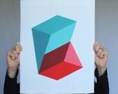 "Giclee print - ""Prisms"" - 13"" x 16"" modern geometric abstract art"