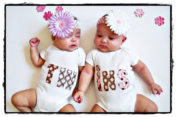 Twins baby onesies