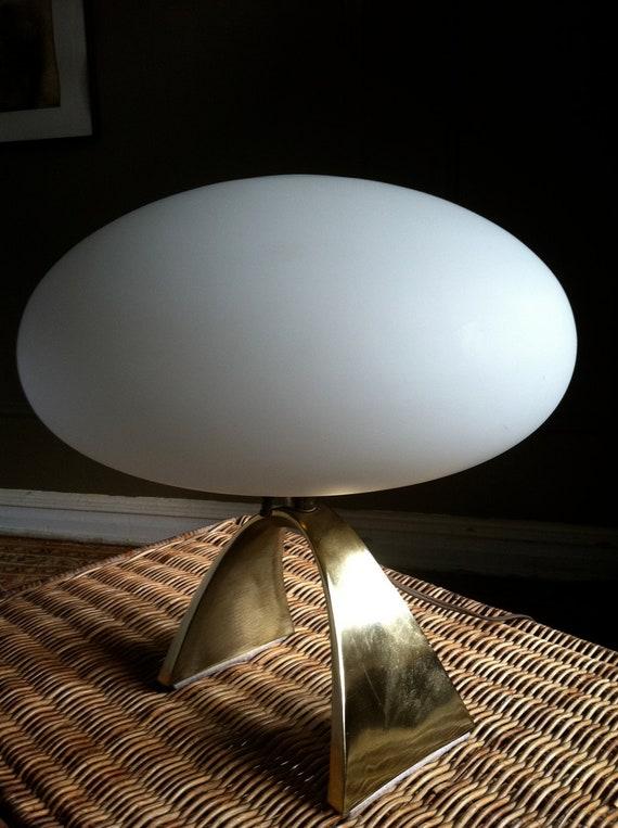 Laurel table lamp mid century modern mushroom globe brass