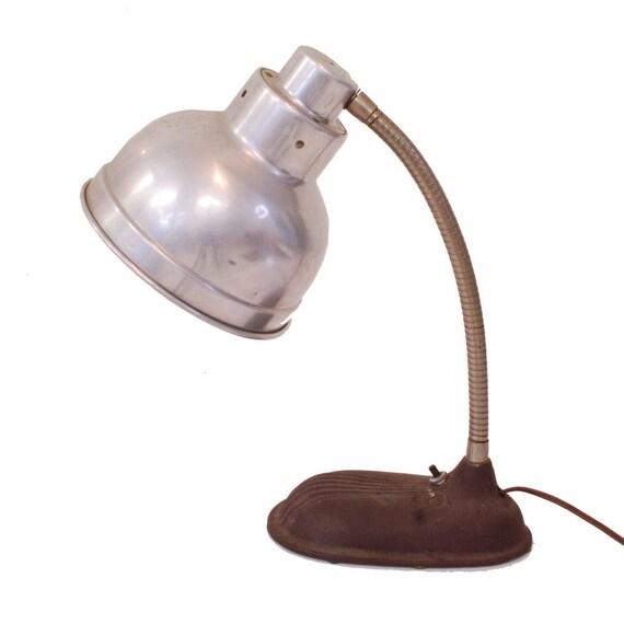 vintage industrial lamp metal desk lamp gooseneck lamp. Black Bedroom Furniture Sets. Home Design Ideas