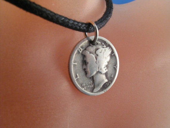 usa mercury dime coin necklace jewelry liberty by