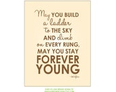 Bob Dylan May You Stay Forever Young 8.5x11 Print