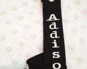 Personalized Black and White Pacifier Clips boys or girls