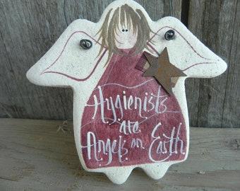Hygienist Salt Dough Angel Ornament