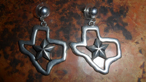 Texas State with Star Dangle Earrings