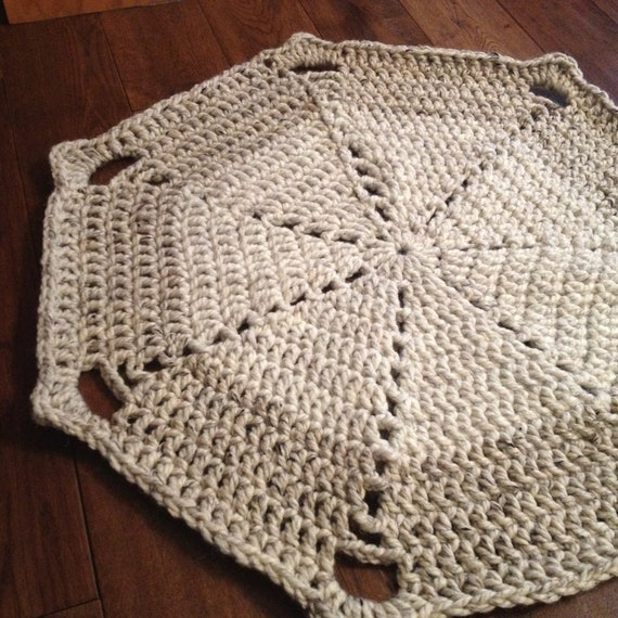 Crochet Kitchen Rugs: Chunky Doily Crochet Rug By Annieandemmasthings On Etsy